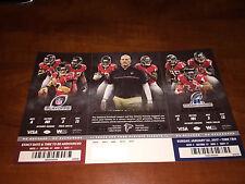 2016 Atlanta Falcons Unused Playoff Ticket Sheet 1/14 Seattle 1/22 Green Bay