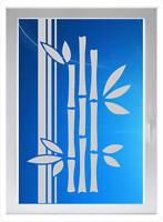 schöne Bambus - Sichtschutzfolie - Fensterfolie - Glasdekorfolie G145