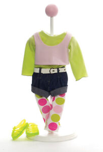 """Madame Alexander Denim & Dots Outfit #61990 fits 18"""" American Girl Dolls"""