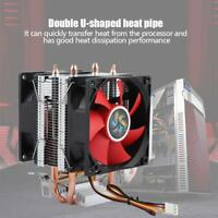 2 Heatpipe CPU Cooler 80mm Cooling Fan Heatsink For Intel 775/1155/1366/AMD AM2