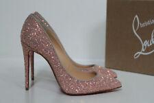 sz 8.5 / 39 Christian Louboutin Pigalle Follies Pink Glitter Classic Pump Shoes