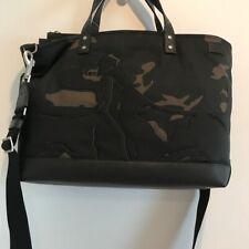 Jack Spade Black Silhouette Coal Bag Russell Camo Waxwear Leather Tote $498 NWT