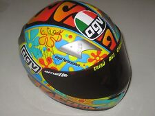 Valentino Rossi signed 1/2 scale Valence 2003 Helmet + COA & Photo proof signing
