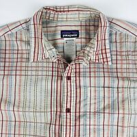 Patagonia Mens Button Shirt Size Medium S/S Great Condition Organic Cotton