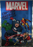 Pottery Barn Captain America Lives Classic Avengers Canvas Wall Hanging 6x4' NEW