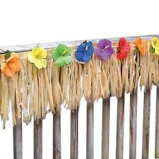 30.4cm x 7.3m Hawaiano Luau Tiki Frangia RECINZIONE verande festa decorazione del giardino