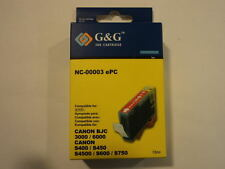 G&G Ink Cartridge Cyan Canon BJC-3000/6000 S400/S450/S4500/S600/S750 NC-00003ePC