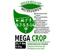 MEGA CROP 22.7lb 9.9kg Hydroponic Soil Nutrient Premium Soluble Fertilizer NPK+