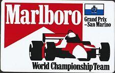 Original Marlboro campeonato del mundo F1 Team Imola SM GP período Pegatina adesivo