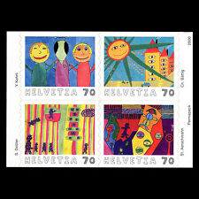 Switzerland 2000 - Intl Children`s Paintings Competition Art - Sc 1083a MNH