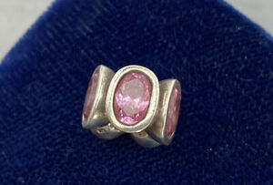 Authentic Pandora Charm Pink Oval Lights  Sterling Silver Retired