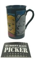 Disney Store Many Faces of pooh Large Tall Coffee Mug Cup 3D Winnie the Pooh