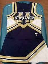 Cheerleader Pep Squad Costume Adult Large Blue Gold And White