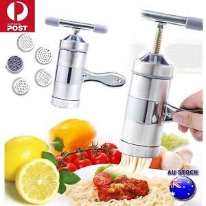 Stainless Steel Manual Pasta Machine Hand Pressure Noodle Maker Fruit Juicer