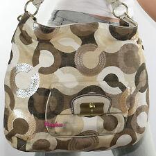 New Coach Kristin Op Art Sequin Shoulder Bah Hand Bag Hobo Crossbody 14767 RARE