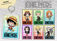 One Piece Anime Keychain Double-Sided Chibi Art Luffy Ace Zorro Sanji Law Sabo +