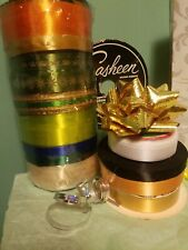 Vintage Lot of 5 Rolls Sasheen & other brands Ribbon Variety