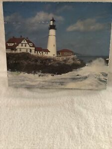 Headlight Lighthouse 550 pc. Jigsaw Puzzle By Down East Crafts Maine U.S. Made