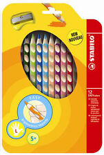 Stabilo Farbstift Easycolors im 12er Etui für Linkshänder mit Spitzer
