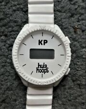 KP Hula Hoops Promotional White Rubber LCD Watch - NOT WORKING, GIMMICKY ONLY