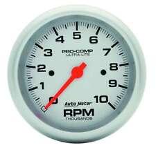 """Auto Meter 4497 Gauge Tach 3 3/8"""" 10,000 RPM In-Dash Ultra-Lite"""