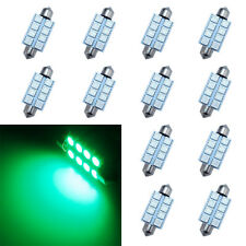10X Green 8-SMD LED Map Dome Interior Lights Bulbs 42MM Festoon 578 211 212