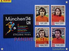 Panini★WM 1974 WorldCup WC 74★Team Österreich komplett / Austria complete set