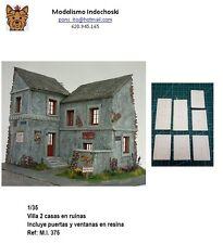 1/35 villa francesa en ruina incluye puertas ventana resina building ruins house