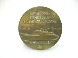 """Médaille en bronze Compagnie Générale Transatlantique """" Colombie """""""