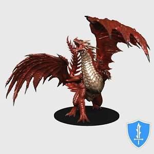 Gargantuan Red Dragon - Dungeons Deep Pathfinder Battles Miniature NIB