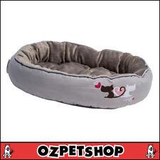 Rogz Podz: Snug Pod - Cat Bed - Grey Heart Tails - Small