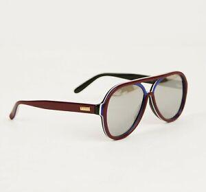Gucci Men's RBWB Multi-layer Acetate Aviator Gold Plaque Sunglasses 504311 6640