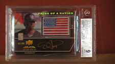 2009 UD Pride of a Nation Dexter Fowler Autograph Patch Card BGS 9 Auto 10.
