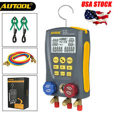 Refrigeration Digital Manifold Gauge HVAC Vacuum Pressure Tester Kits USA STOCK