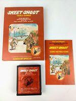 Vintage ATARI 2600 Skeet Shoot CIB box cart manual Complete Apollo games