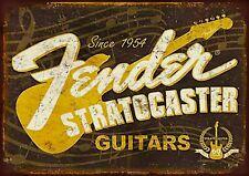 Fender (2) metal wall sign