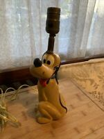 Pluto Figurine Lamp Walt Disney Prod. Vintage Collector Light Mickey Mouse Dog