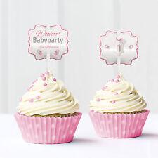 Baby Shower, Babyparty, Cupcake Deko, 12 Stück, mädchen, rosa von Mia-Felice