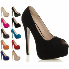 Party Peep Toe Slim Heel Synthetic Shoes for Women