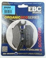 EBC Organic FRONT Disc Brake Pads (1 Set) Fits PEUGEOT TWEET 125 (2010 to 2020)