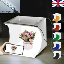 Photo Studio Lighting Box Portable Photography Backdrop LED Light Room Tent UK
