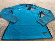 Nike Women's USA Soccer Goalie Longsleeve Jersey Size Medium Blue