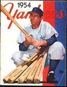 1954 New York Yankees Yearbook VG-EX+
