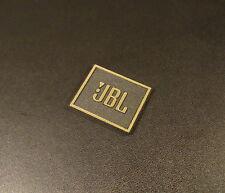JBL Logo Emblem Badge brushed gold metallic color adhesive 28 x 23 mm [239b]