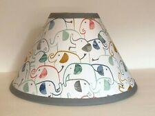 Emery Elephant Fabric Nursery Lamp Shade M2M Pottery Barn Kids Bedding