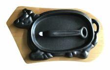 Cast Iron Sizzler Pan Cow Shaped Pan Fajita Pan Cast Iron Serving Plate Dish