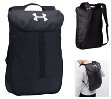 Under Armour Backpack Black Expandable Sacpack Gym Bag School Sports Rucksack