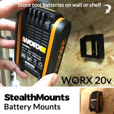 5x Stealth Mounts for Worx 20V Battery Mounts Holders Slot Van Wall Mount Holder