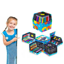Kids Drawing Set Art 52 Piece Paints Colouring School Pencils Crayons Markers