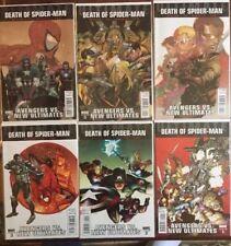 Ultimate Avengers vs New Ultimates  No 1-6 Set 2011 Death Of Spider-Man Set!
